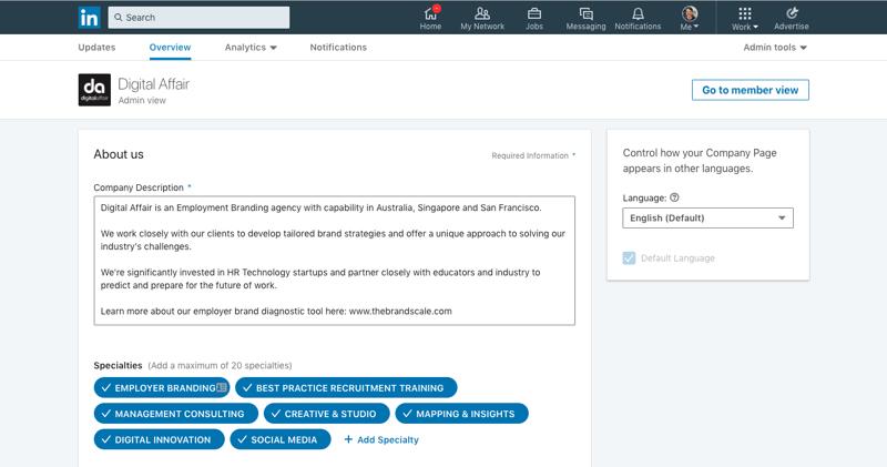 Build LinkedIn company page 2