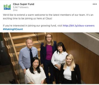 LinkedIn post example 2